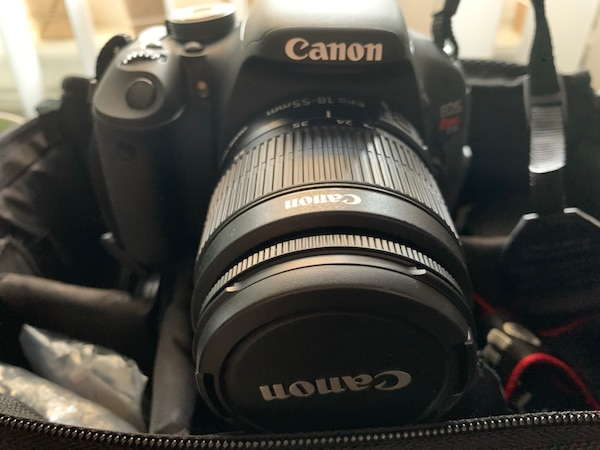 Canon EOS Rebel T3i DSLR Camera with 2 Canon Lenses and Carrying Case