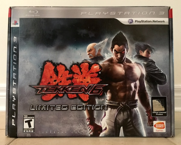 Used BNIB Limited Edition Tekken 6 Game and Hori Fight Stick