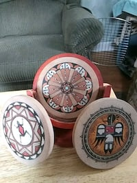Thirsty stone Native American coasters with holder Minneapolis, 55430