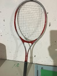 red and gray badminton racket