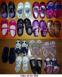 Size 9 Girl Shoes Lot - 15 Pairs for Only $60 Mississauga