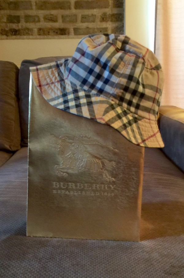 af3cdc15b42 Used Burberry Reversible Leather Bucket Hat for sale in Chicago - letgo