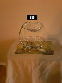 New 2 tiered fruit basket, $10 firm Colton