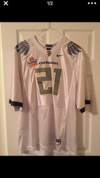 Oregon Ducks Jersey w/ Tostitos Fiesta Bowl Patch added Washington, 20005