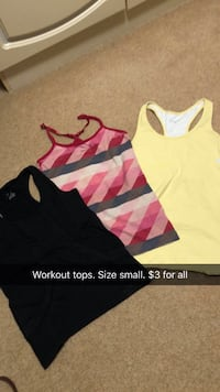 women's three assorted tank tops with text overlay