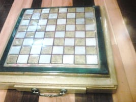 Handmade clear coated epoxy chess board and gaming board