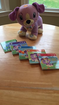 Leap Frog My Pal Violet....Learning Toy with 5 Learning Books! Recommended for ages 2-5 years! Clean smoke free home! $30 new on other major online retailer. A Super Deal at $10. 174 mi