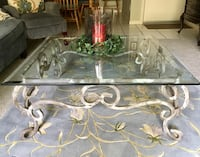 "40"" glass top wrought iron coffee table, beautiful and sturdy. Miami, 33176"