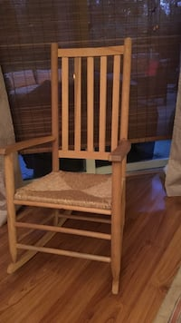 beige wooden rocker armchair Sandwich, 02563