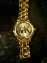 round gold Michael Kors analog watch with link bracelet Tulsa, 74126