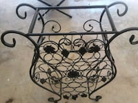 Black cast iron wine rack. Very heavy. Priced firm Gaithersburg, 20877
