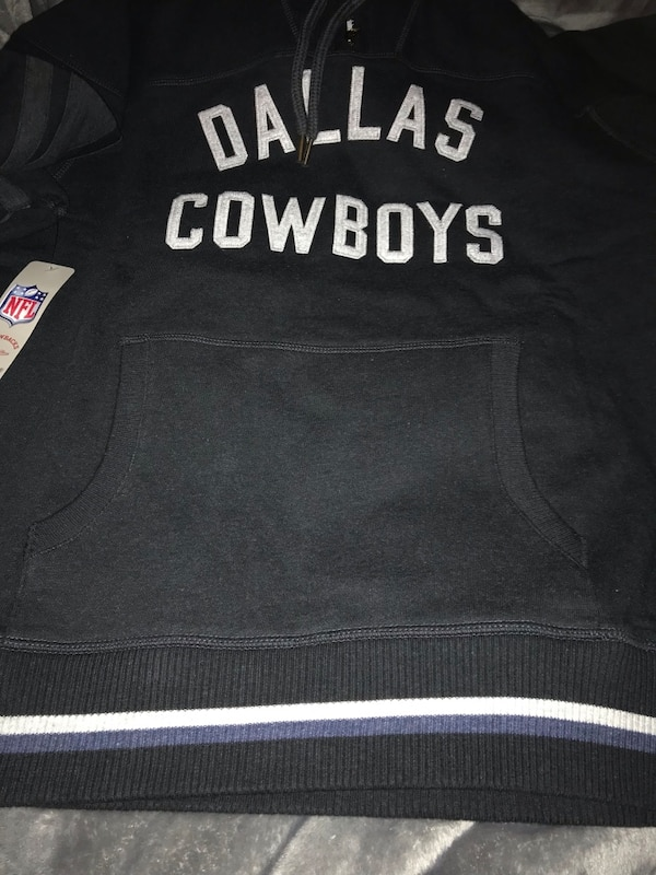 premium selection ff770 7d041 Dallas Cowboys Mitchell & Ness Brand New with Tags Black Throwback Hoodie