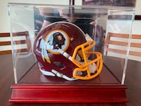 Authentic and signed Washington Redskins Jersey and Mini Helmet. Jersey is #91 Ryan Kerrigan. Helmet is #71 Trent Williams. Falls Church, 22042