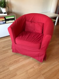IKEA Red fabric sofa chair - barely used, perfect condition  Georgetown, L7G 3G3