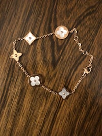 Baoli rose gold titanium white shell bracelet new with plastic bag