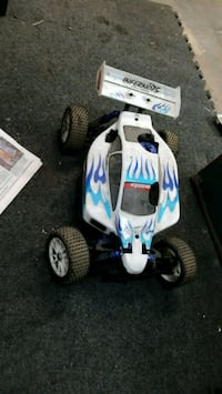 white and blue RC car Oak View, 93022
