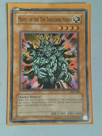 Yu-Gi-Oh Manjou Of The Thousand Hands Apopka, 32712