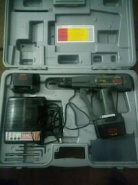 black and gray cordless power drill with case Yuma, 85364