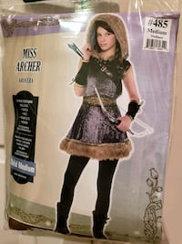 Girl, Archer Costume, Medium Ashburn, 20148
