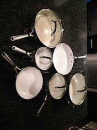 Ceramic pots and pans by Calphalon