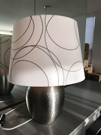 2 large white and silver table lamps Hamilton, L8P 1X8