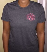 Monogrammed short sleeves shirts. Many colors and sizes available  Kitts Hill, 45645