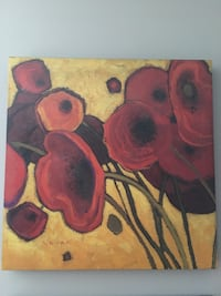 Two canvas poppy paintings 17 1/2 inches paid $40 asking $3.00 each Kitchener, N2P 2T5