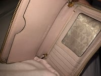pink/nude michael kors leather wallet