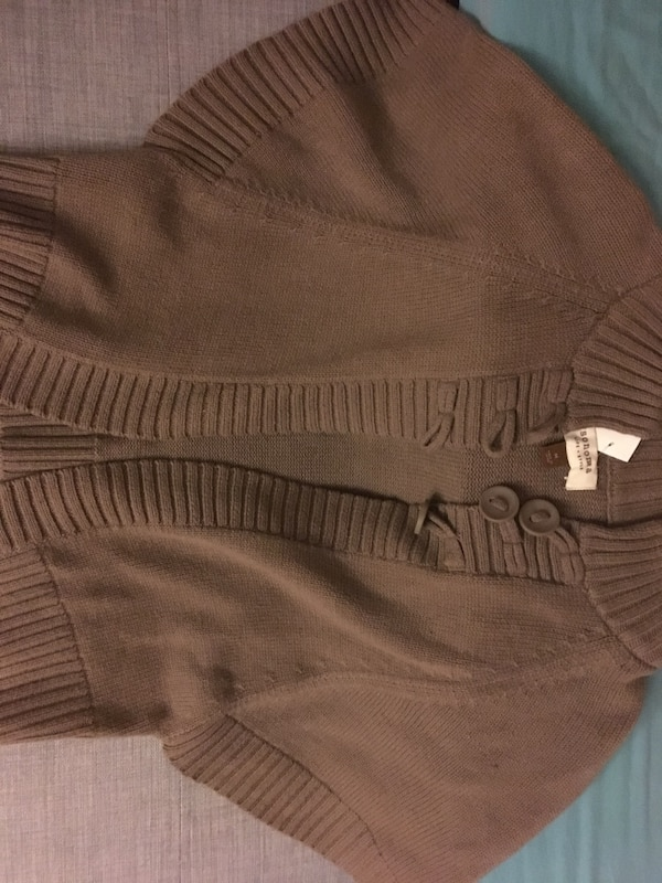 Brown, waisted cardigan