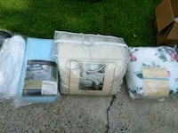 two white plastic pet carriers