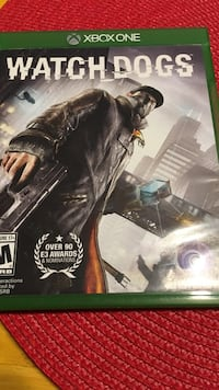 Xbox One watch dogs game case Rockville, 20852