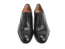 John Fluevog City Angels Damascus classic brogued oxfords. Womens