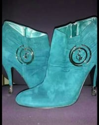 Teal baby phat booties