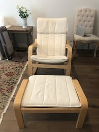 IKEA armchair with foot rest