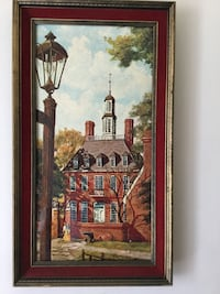 "Vintage fine print of Williamsburg by Drummond,#432,12""x 24"" Toronto, M3B"