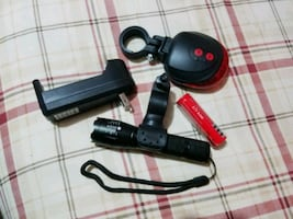 Bike light set with charger & battery