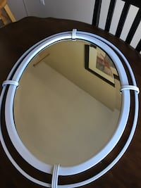 Adorable white oval mirror ! Lakeville