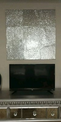 Handmade Silver Glitter Glam Wooden Wall Decor Home Large Charlotte, 28269