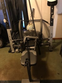 Weight set Olympics  style bar, weights,bench come  take  it all  for  350 682 mi