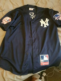 black and white New York Yankees button-up jacket Brampton, L6S