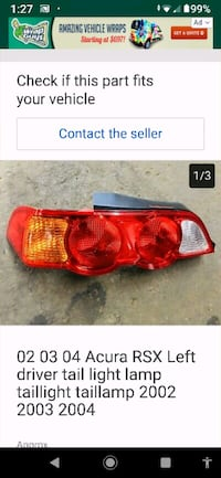 Tail lights 03-06 Acura RSX