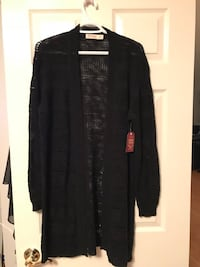 With tags black knitted cardigan