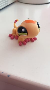 Littlest Pet Shop Orange Lizard Sharon, 02067