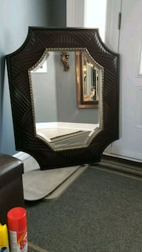 brown wooden framed mirror with mirror Vaughan, L6A 3T1