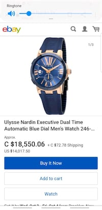 unisse Nardin 18 k rode gold mens watch Calgary, T2G 2J8