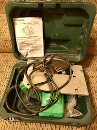 Hitachi circular saw for sale! Original manual and case included. Case is missing one of the closures. (Cash only) Arlington, 22206
