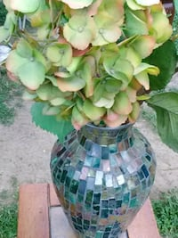 Decorative Glass Vase and Flowers