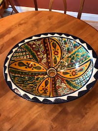 "Oval white, blue, and green ceramic sinks. Approximately 12"" x 17"". Pick up in Purcellville. $50 each. Purcellville, 20132"