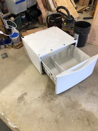 Pedestal with drawer for whirlpool dryer Deep River, 06417