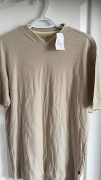 Brown v-neck t-shirt ( brand new ) men's